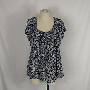 Forever 21+ Daisy floral blouse. Size 1X